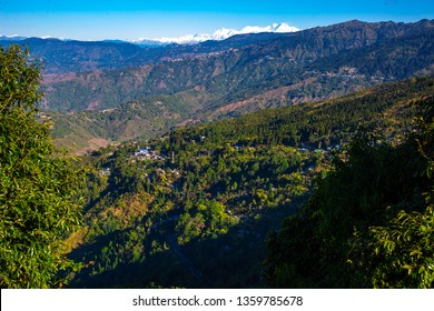 View of Kanchenjunga range seen from Kurseong, chimney view point