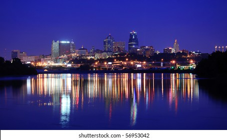 A view of the Kansas City Skyline Downtown