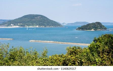 View of Karatsu bay from Karatsu castle hill - Karatsu city, Saga prefecture