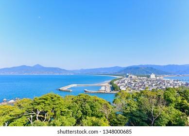 View of Karatsu City from Karatsu Castle