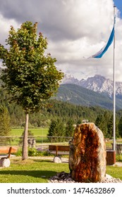 View to the Karwendel mountains in Bavaria