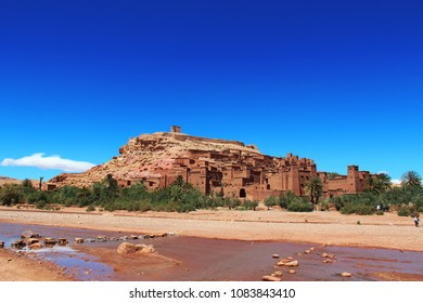 View of Kasbah (Ait ben Haddou, Morocco)