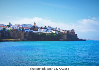 The view of Kasbah of the Udayas, the Historical landmark in Rabat, the capital city of Morocco