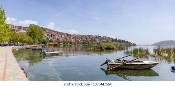 View of Kastoria city, Macedonia, Greece.