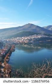 View of Kastoria from the hill of Prophet Elias in Kastoria , Greece
