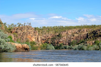 View of Katherine Gorge from a boat