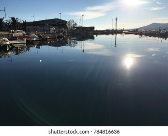 View from Kavala port,Greece