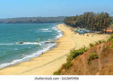 View of Keri or Querim beach in north of Goa. India