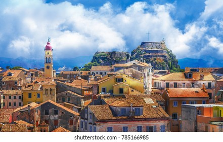 View of Kerkyra, capital of  Corfu island, Greece.