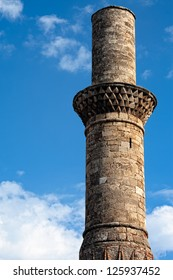 View of the Kesik Minaret in the old city of Antalya Turkey