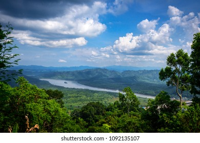 view at Khao Fa Chi viewpoint in Ranong province, Thailand.