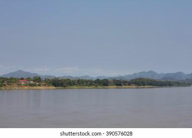 View Khong river at Chiang Khan, Loei, Thailand