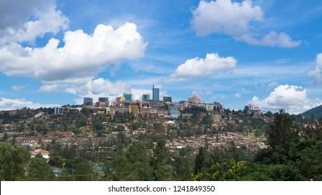 view of the Kigali. Capital of Rwanda