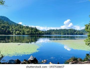 The view of Killarney Lake on Bowen island