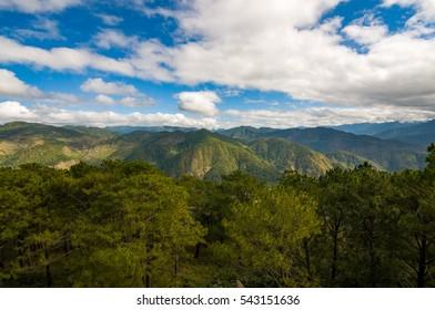 View at the Kiltepan Peak, Sagada, Philippines.