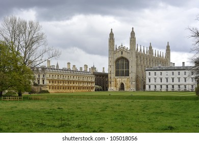 A view of Kings College Chapel and Kings College from the Backs