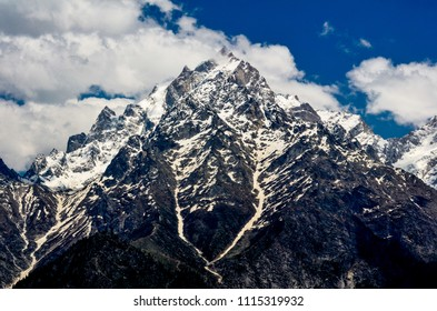 A view of Kinnaur Kailash Mountain Peak , Himachal Pradesh