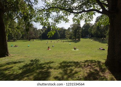 View of Kinnekswiss Park in Luxembourg city