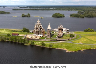 View of Kizhi Island, the Historic Site of wooden Churches and Bell Tower-Republic of Karelia,Russia