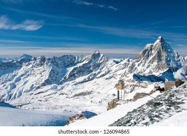 View from The Klein Matterhorn