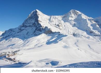 View of Kleine Scheidegg and the Eiger, Swiss Alps