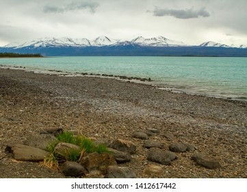 View of Kluane Lake, Yukon Territory, Canada