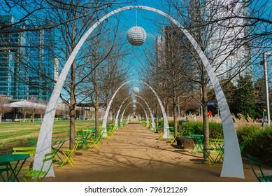 View from Klyde Warren Park, Downtown Dallas, Texas