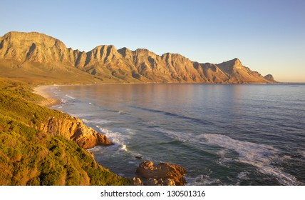 A view of Kogel Bay from Clarence Drive, near Gordon's Bay, South Africa.