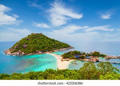View of Koh Nang Yuan in Chumphon Thailand