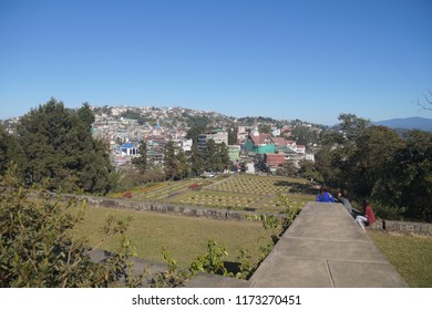 View of Kohima City from Kohima War Cemetery, Nagaland/India- 3rd December 2017