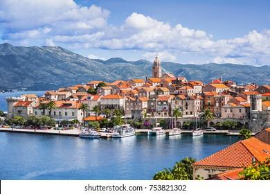 View of the Korcula town, Korcula island, Dalmatia, Croatia
