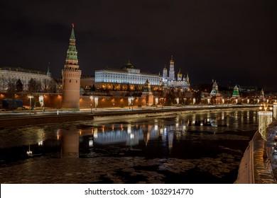 View of the Kremlin from Bolshoy Kamenny Bridge