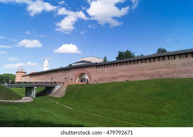 View of the Kremlin of Veliky Novgorod city,Russia.
