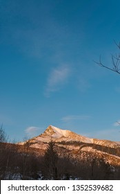 The view of Krivan in High Tatras, Slovakia