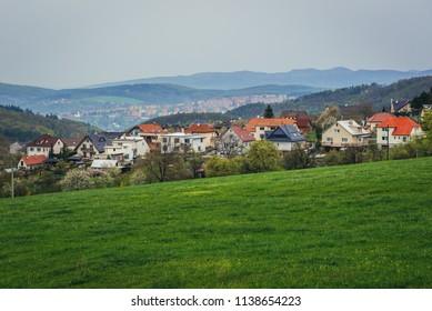 View in Kudlov, quarter of Zlin town in Czech Republic