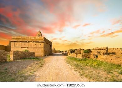 View of Kuldhara abandoned village near Jaisalmer, Rajasthan, India