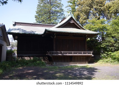 view of kumano shrine in jiyugaoka of tokyo, japan
