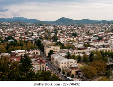 The view of Kutaisi, the second size city of Georgia country
