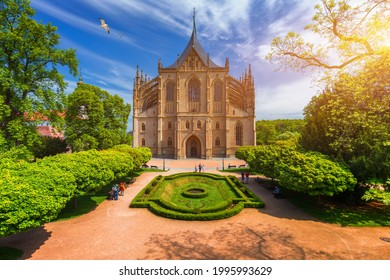 View of Kutna Hora with Saint Barbara's Church that is a UNESCO world heritage site, Czech Republic. Historic center of Kutna Hora, Czech Republic, Europe.  - Shutterstock ID 1995993629