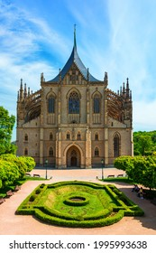 View of Kutna Hora with Saint Barbara's Church that is a UNESCO world heritage site, Czech Republic. Historic center of Kutna Hora, Czech Republic, Europe.  - Shutterstock ID 1995993638