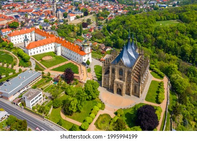 View of Kutna Hora with Saint Barbara's Church that is a UNESCO world heritage site, Czech Republic. Historic center of Kutna Hora, Czech Republic, Europe.  - Shutterstock ID 1995994199