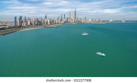 View of Kuwait Skyline from the Persian Gulf