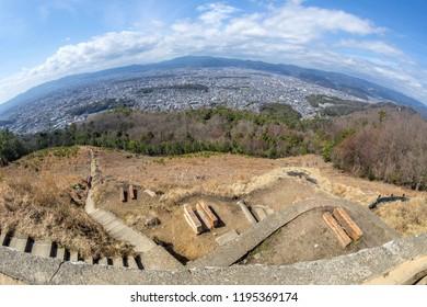 View of Kyoto City from Daimonji-yama, kyoto, japan
