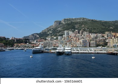 View of La Condamine ward and Port Hercules in Monaco. Port Hercules is the only deep-water port in Monaco