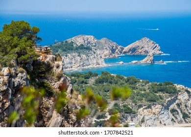 View from La Falzia to the beautiful bay with Cap Prim