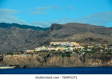 View of La Gomera Canary Islands from the Ocean