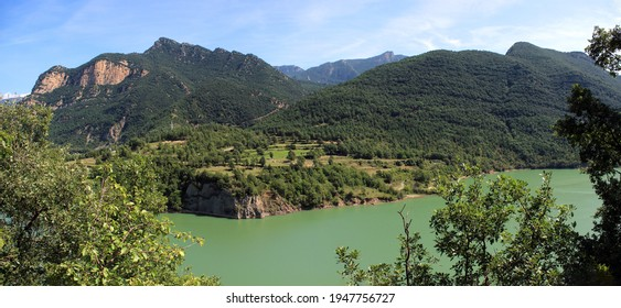 View from La Rodonella towards Embalse de la Baells in Catalonia, Spain