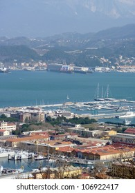 View at La Specia, a port town in Italy