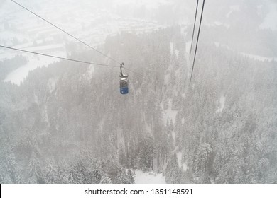 View from the Laber cable car to Oberammergau
