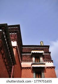 View of Labrang Tibetan Monastery, Gansu Province
